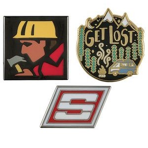 "Custom Lapel Pins - 1 1/4"" Cloisonne Hard Enamel"