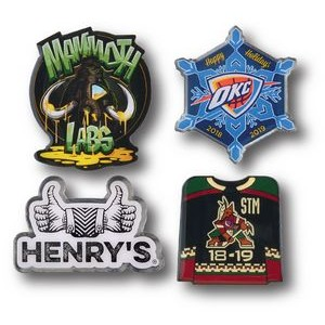 "3/4"" Overseas Photo Printed Lapel Pins"