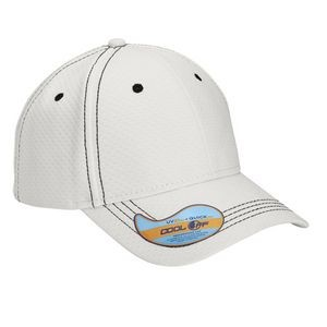 6-Panel High Performance Cap - Hexagon Beads Cool Off Fabric with UV Guard 50+ UV Sun Protection