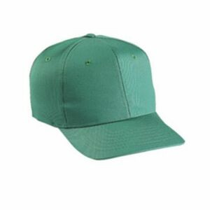6 Panel Solid Color Cotton Twill Cap