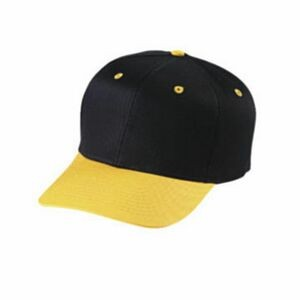 Youth 6 Panel 2 Tone Cotton Twill Cap W/ Double Snap Closure