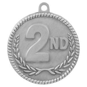 "2"" High Relief Medal-2nd"