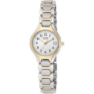 Ladies' Quartz Stainless Steel Two-tone with White Dial