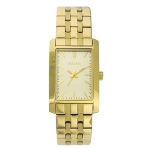 Bulova Corporate Collection Women's Gold-Tone Stainless Steel Bracelet Watch