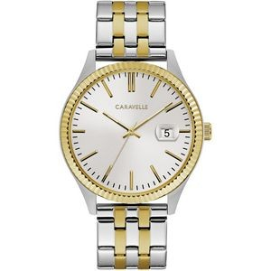Caravelle Men's Gold & Silver-Tone Stainless Steel Bracelet Watch