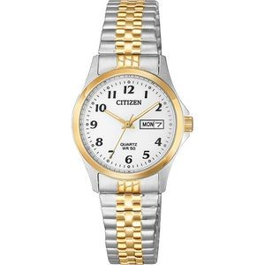 Ladies Quartz Expansion Band Watch - Stainless Steel, Two-Tone