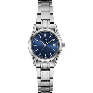TFX Women's Stainless Steel Bracelet with Blue Dial Watch