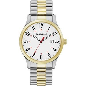 Caravelle Men's Two-Tone Stainless Steel Expansion Watch